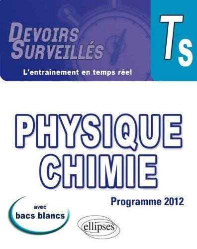 Physique Chimie Terminale S Programme 2012 Avec Bacs Blancs by Vincent Davoine (2012-09-25)