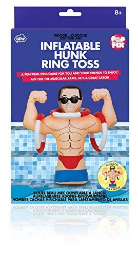eit Aufblasbare Hunk Hoopla Spiel-aufblasbar Hunk Ring Toss by Pop Fix ()