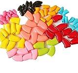 Crasy Shop Nagelkappen, für Hunde und Katzen, weiches Silikon, mit Klebstoff, zufällige Farbe, 20 Stück