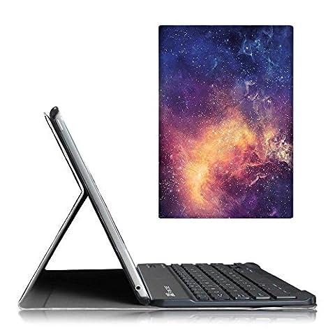 Fintie iPad Air 2 Bluetooth Tastatur Hülle Keyboard Case - Ultradünn leicht SmartShell Ständer Schutzhülle mit magnetisch abnehmbarer drahtloser deutscher Bluetooth Tastatur für Apple iPad Air 2, DieGalaxie