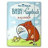 Mein 1. Kalender | Baby Tagebuch & Tages-Kalender als Geschenk zur Geburt mit Tipps & Tricks passend zur Entwicklung | Ratgeber | Entwicklungsberater | Milestone Karten | Foto Album (Blau)