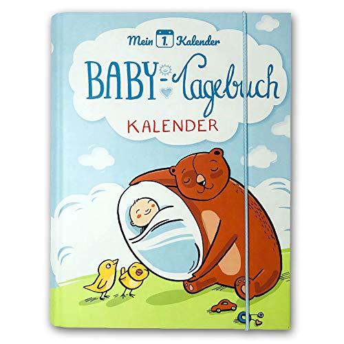 Mein 1. Kalender ® | das Babytagebuch | Entwicklungsberater | Geschenk zur Geburt | 365 Tipps und Tricks | A5 | Blau (Seite Am Tag 365)