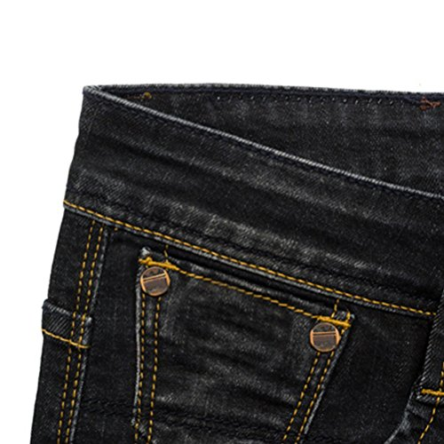 Zhhlaixing Klassisch Mens Denim Jeans Trousers Cotton Lightly Washed Slim Fit Pants Black