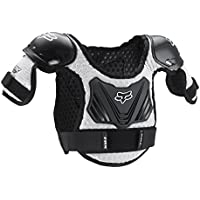 Fox Racing PeeWee Titan Youth Boys Roost Deflector MX/Off-Road/Dirt Bike Motorcycle Body Armor - Black/Silver / Medium/Large by Fox Racing