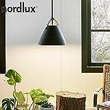 Nordlux Pendelleuchte STRAP 36, 36cm, E27, IP20, Metall, schwarz EEK: A++ - D