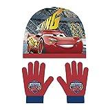 Disney Cars 2tlg. Winterset Kindermütze Kinderschal Kinderhandschuhe Mütze Schal Handschuhe WD11646 (Rot)