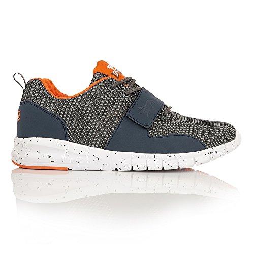 Lonsdale Novas, Chaussures de Running Compétition Homme Grey/Charcoal/Orange