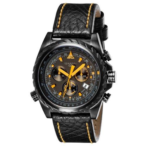 Torgoen Herren-Armbanduhr Analog Leder schwarz T22103