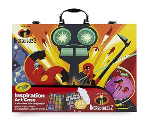 Crayola-Disney Die Unglaublichen 2Koffer der Künstler-Malen und Zeichnen, für Spiel und Geschenk, Farbe Sortiert, 120Stück Art & Craft, 04-3315