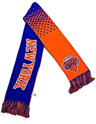 New York Knicks NBA Basketball Orange Blue Knitted Fan Scarf Gift USA Official