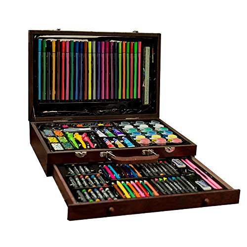 OOFAY Non-Giftige Farbe Blei Aquarellstifte Stift Kunst-Set, Schüler Malen Pinsel Liefert, Kunst Malerei Zubehör Set