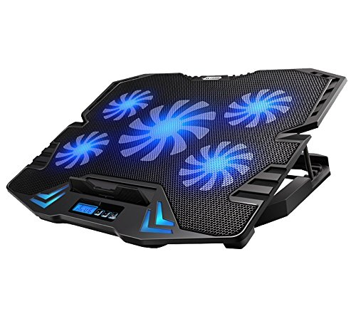 Link-e ® - Support gaming cooler 5 fans for LAPTOP PC, notebook, PS4, Xbox One... Compatible peripheral from 9 to 17