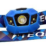 TEQIN Superhelle CREE LED Scheinwerfer Hochleistend Taschenlampe Wasserabweisend USB Kabel Wiederaufladbar Scheinwerfer Lampe für Radfahren Camping Andere Outdoor Aktivitäten(Blau) - 3