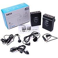 BOYA BY-WM5Microfono Lavalier Wireless 2.4Ghz Audio Recorder per Canon/Nikon/Sony Fotocamera DSLR, Colore: Nero