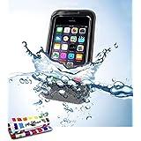 Etui étanche APPLE IPHONE 5 [L'Aquaproof Premium] [Noir] de MUZZANO + STYLET et CHIFFON MUZZANO® OFFERTS - La Protection Anti-dérapante ULTIME, ELEGANTE ET DURABLE pour votre APPLE IPHONE 5