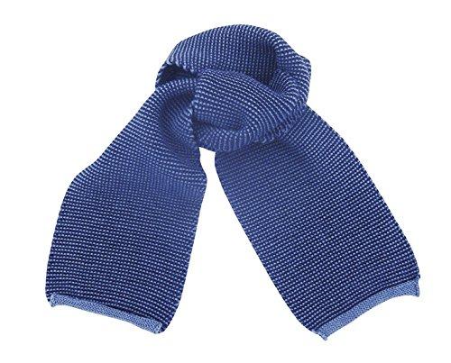 Disana Disana Strick-Schal aus sehr weicher Merinowolle - Baby-Kind, Blau, 100cm x 12cm