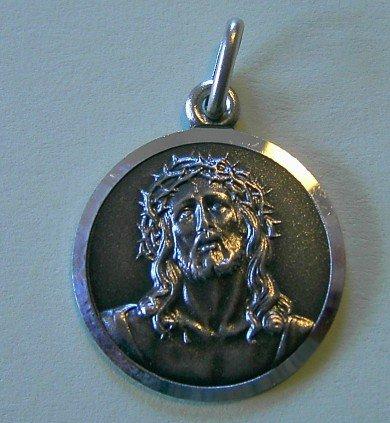 Antlitz Christi, Jesus mit Dornenkrone, Medaille