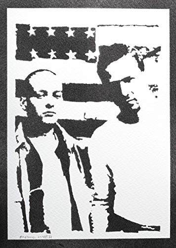 American History X Poster Plakat Handmade Graffiti Street Art - Artwork Art - Artwork - American Leinwand