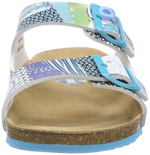 Desigual Shoes_bio 2, Tongs femme Turquoise - Türkis (5024 TURQUESA PALO)