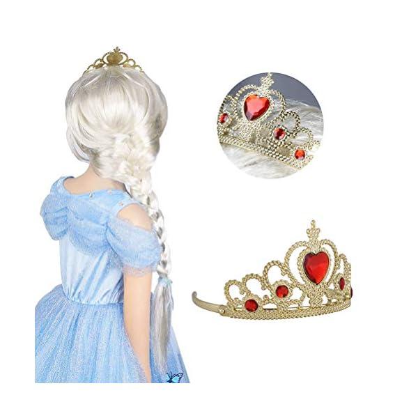 Vicloon Accessori Principessa Bella, Principessa Corona e Principessa Bacchetta, Accessori Abito per Carnival Birthday… 2 spesavip