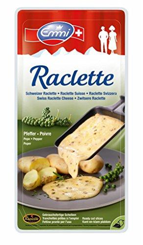 Emmi - Raclette Käse Scheiben Pfeffer Schweizer Schnittkäse - 150g