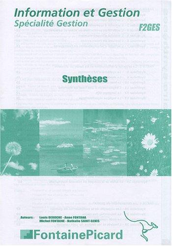 Information et Gestion spécialité Gestion : Synthèses
