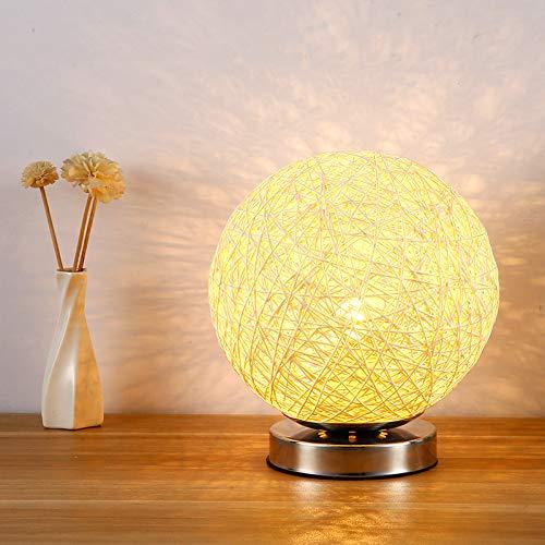 Dormitorio lámpara de noche estudio de invitados luz nocturna moderna minimalista pequeña lámpara de mesa decoración bola lámpara de mesa naranja control remoto