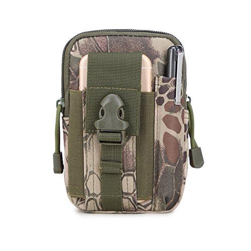 SYSI Outdoor Sport Taktische Taschen 5,5 / 6 Zoll Wasserdichte Handy Tasche Waist Bag Multifunktional für Camping Reise Wandern Gruen 1