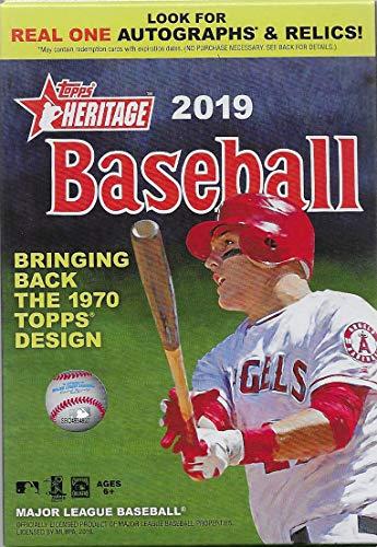 Topps Heritage MLB Baseball-Serie 2019 Topps Box mit 35 Karten basierend auf Topps klassischem 1970 Design