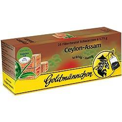 Goldmännchen Schwarzer Tee Ceylon-Assam, 25 Teebeutel, 3er Pack (3 x 44 g)