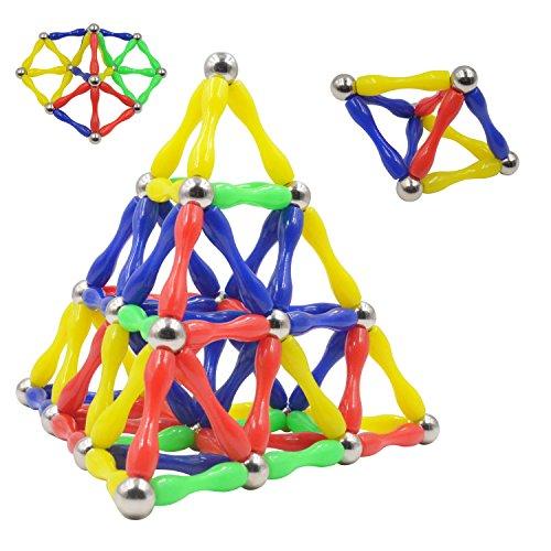 110 piezas de barras magnéticas de construcción educativa. Juguete para niños