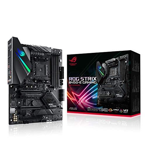 ASUS ROG Strix B450-E Gaming Mainboard Sockel AM4 (AMD B450, ATX, DDR4, SATA 6Gbit/s, duales M.2, Aura Sync) - Asus Motherboard Gaming
