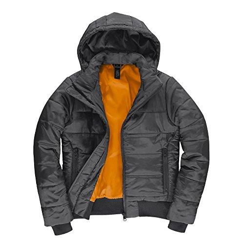 B&C - Damen Jacke 'Superhood' Dark Grey/Neon Orange