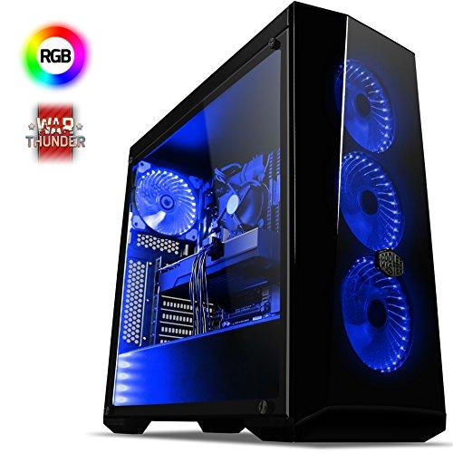 VIBOX Extreme 1 Gaming PC Computer mit War Thunder Spiel Bundle (4,1GHz AMD FX 6-Core Prozessor, Nvidia GeForce GTX 1060 Grafikkarte, 8Go DDR3 1600MHz RAM, 1TB HDD, Ohne Betriebssystem)