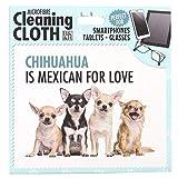 Panno in microfibra con stampa e scritta: Chihuahua chihuahua cane è messicano per Love