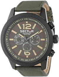 Sector Herren-Armbanduhr Analog Quarz Leder R3251102012
