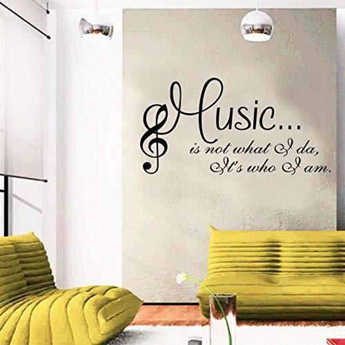 (Yzybz Musik Ist Ich Bin Wandkunst Aufkleber Studio Musiker Schlafzimmer Aufkleber Wohnkultur Wohnzimmer Text Art Decals Wallpaper)