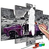 murando - Malen nach Zahlen Auto Landschaft 100x50cm Malset DIY n-A-0667-d-m