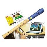 Flute Master (app) mit Blockflöte aus Holz-Kunststoff (deutsche Griffweise)