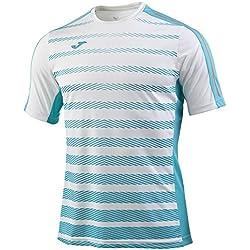 Joma 100566.216 Camiseta Manga Corta, Hombre, Blanco, S
