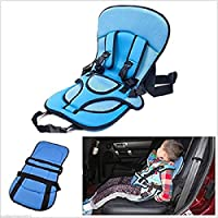 RONTENO Canvas Baby Car Cushion Child Safty in Car Traveling - 1 Pc (Multi Color)