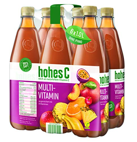 Hohes C Multivitamin - 100% Saft, 6er