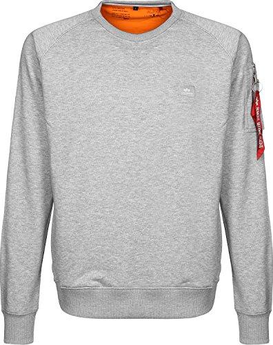 Alpha Industries Herren Sweatshirt grau S