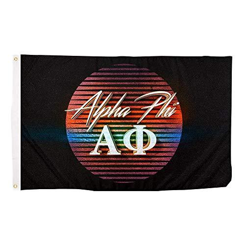Alpha Phi 80er Jahre Briefe Sorunity Fahne Banner 3 x 5 Zeichen Dekor A Phi