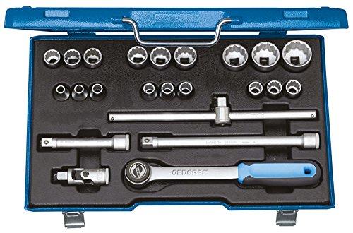 Preisvergleich Produktbild GEDORE Steckschlüssel-Satz 1/2 Zoll 23-Teilig, UD 8-32 mm, D 19 EMU-3