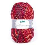 Gründl gomitolo 400 g, Lunghezza Circa 1040 m Rosso Multicolore