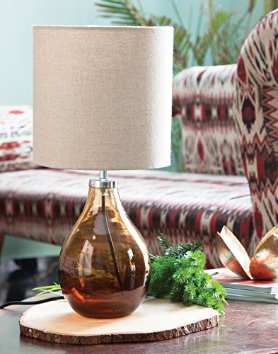 Gayle Glass Table Lamp Amber