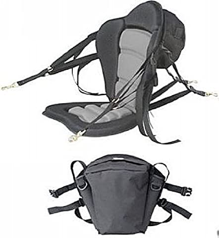 Deluxe Molded Foam Kayak Seat with detachable back packs. Kayak Fishing Seat. Backpack comes with 2 rod holders. by