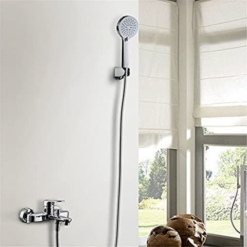 CAC Kit de ducha de baño de cromo pulido C601