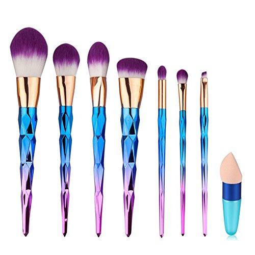 Pennelli Make Up,Cadrim Set di pennelli professionali per trucco trucchi,pennelli trucco con borsa (7+1 Pennelli)